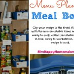 Flashback Friday, Menu Planning Organizing Meal Boxes