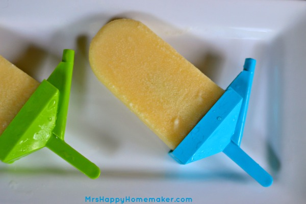 Pineapple & Cream Ice Pops