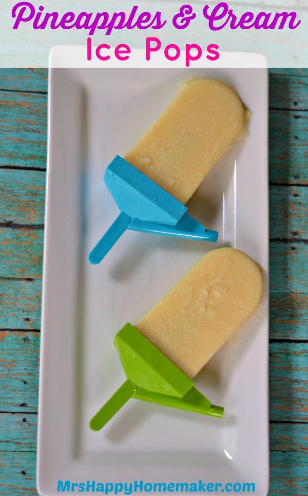 Pineapple Cream Ice Pops