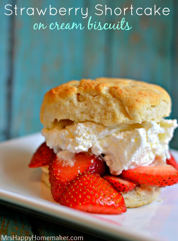 Strawberry Shortcake (with cream biscuits)