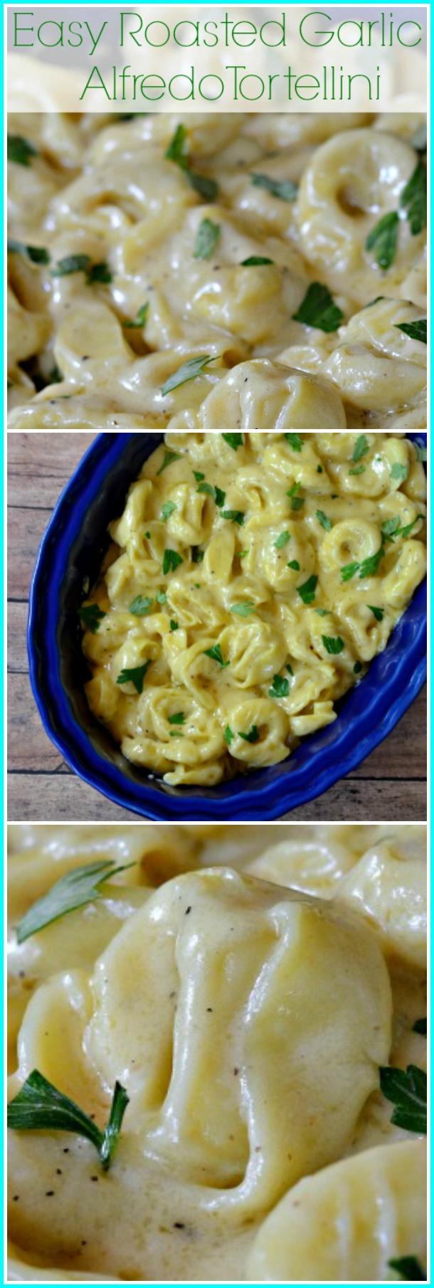 Easy Roasted Garlic Tortellini