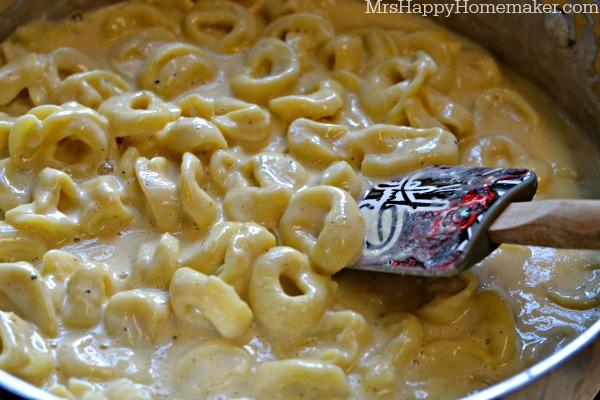Easy Roasted Garlic Alfredo Tortellini
