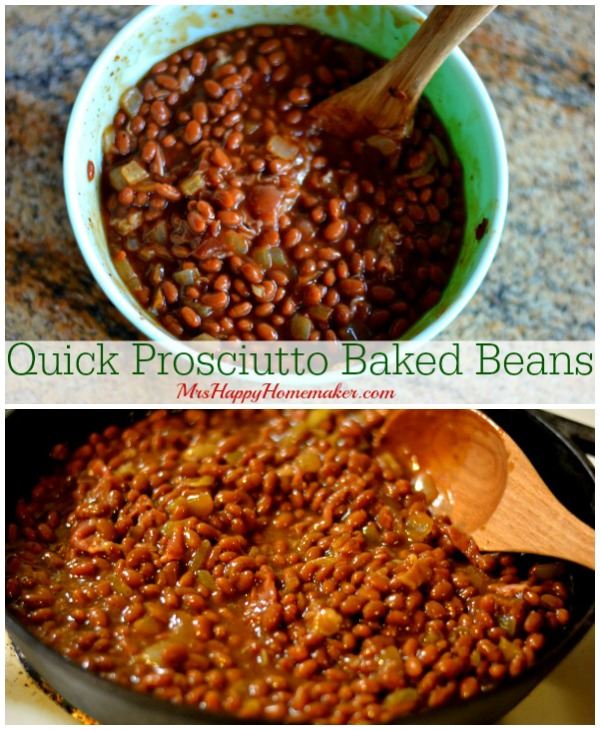 Quick Prosciutto Baked Beans