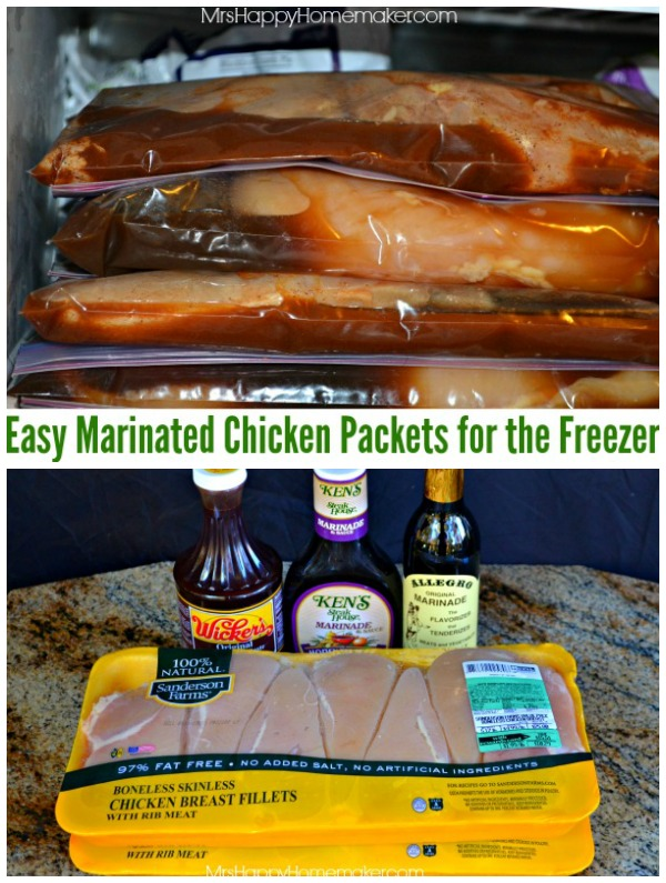 Easy Marinated Chicken Packets for the Freezer