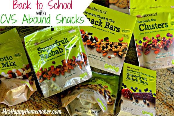 Back to School Lunches with CVS Abound Snacks