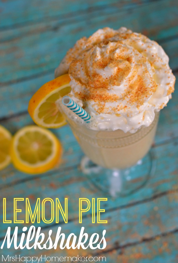 Lemon Pie Milkshakes - only 3 ingredients!