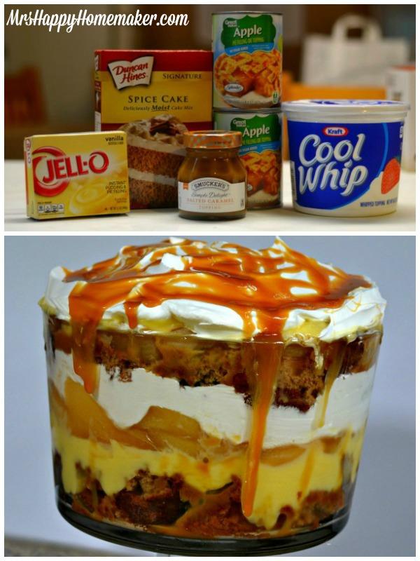Easy Caramel Apple Trifle