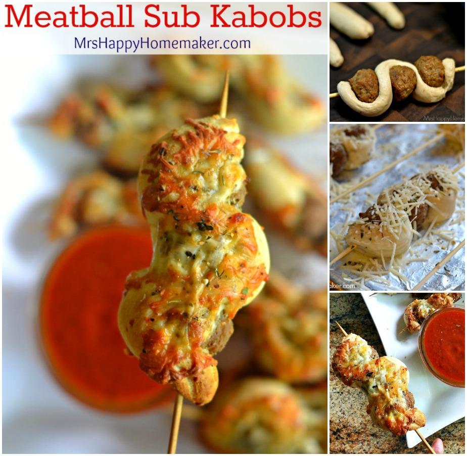 Easy Meatball Sub Kabobs