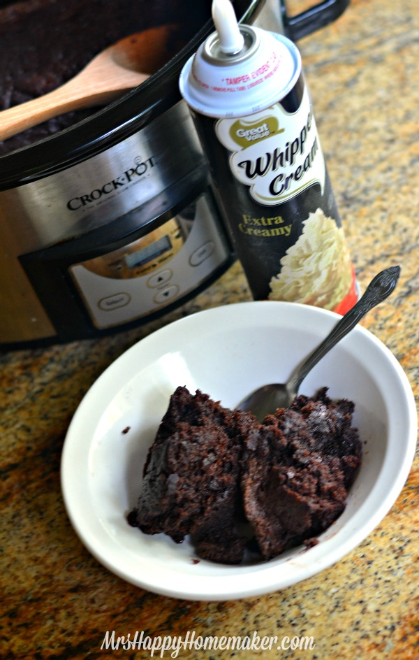 Crockpot Triple Chocolate Cake