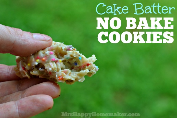 Cake Batter No Bake Cookies