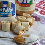 Peanut Butter & Marshmallow Cream Roll Ups
