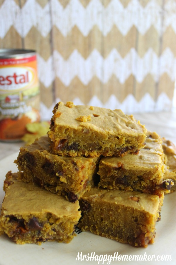 Butterscotch Pumpkin Blondies