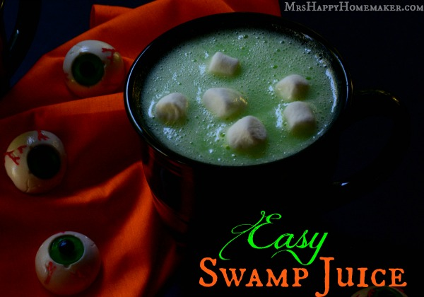 Swamp Juice - Easy Halloween Drink | Mrs Happy Homemaker