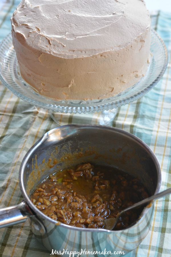 Chocolate Butterscotch Praline Cake