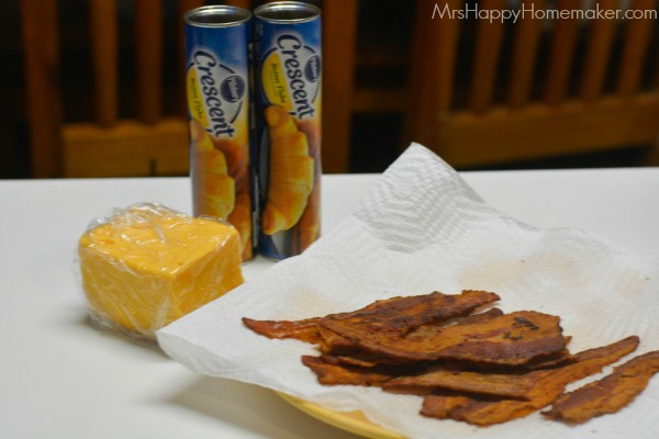 Grilled Cheese Bacon Crescent Squares - bacon, cheese and crescent rolls