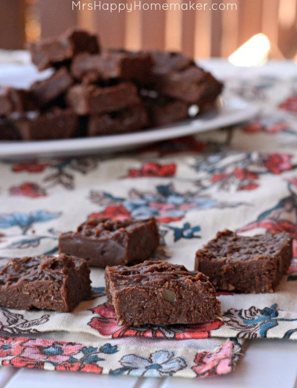 2 Ingredient German Chocolate Fudge