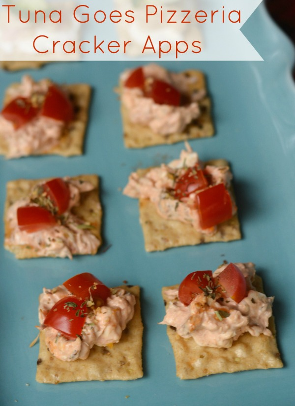 Tuna Goes Pizzeria Cracker Apps