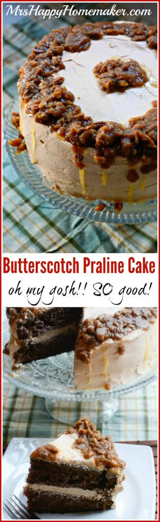 Butterscotch Praline Cake
