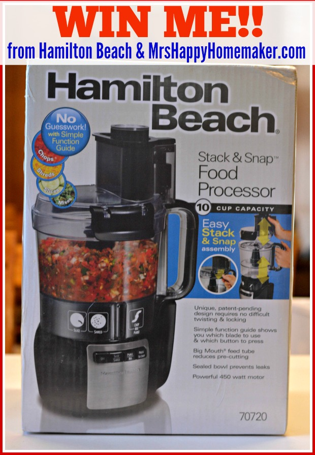 Win a Hamilton Beach food processor!