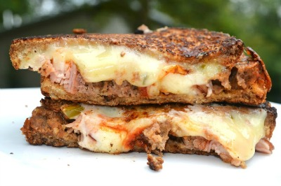 Leftover Meatloaf Grilled Cheese Sandwich