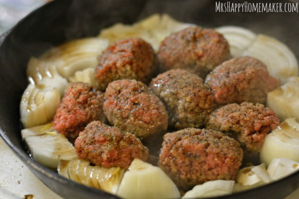 Smothered Salisbury Steak Meatballs