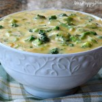 4 Ingredient Broccoli Cheese Soup