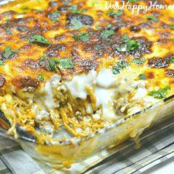 Cheese Lover's Spaghetti Casserole