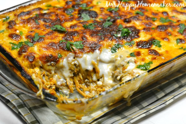 Cheese Lovers Spaghetti Casserole