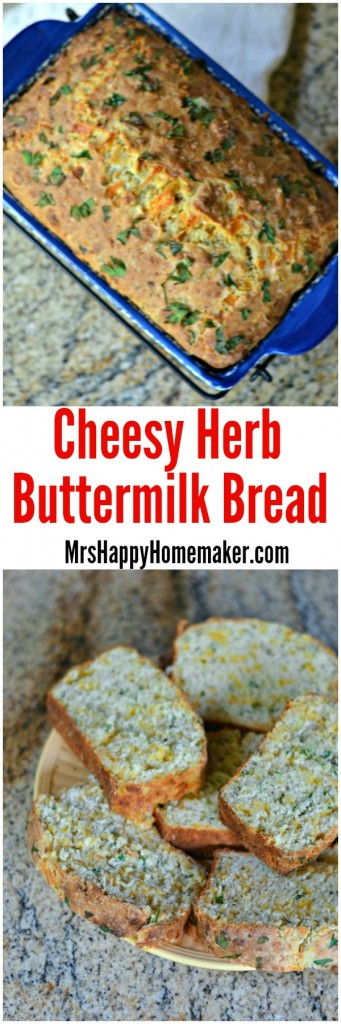 This Cheesy Buttermilk Herb Bread is one of my very favorite homemade bread recipes. It's quick & easy – and it's absolutely delicious! I just love it!