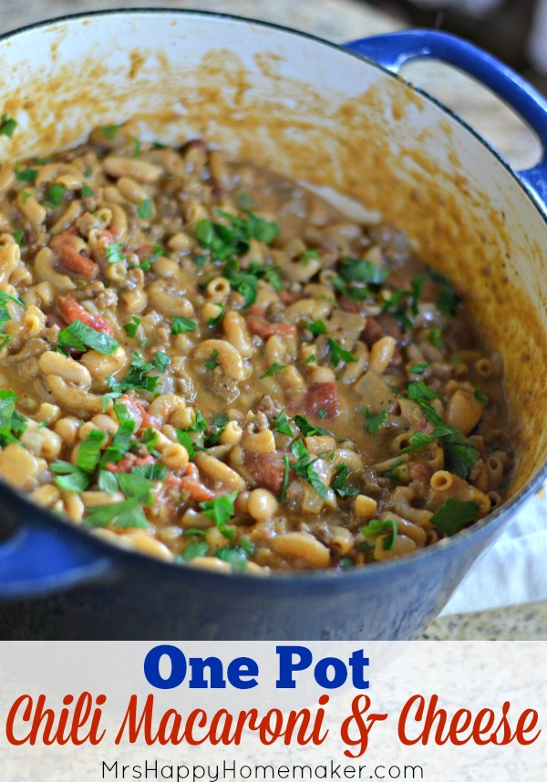 One Pot Chili Macaroni & Cheese