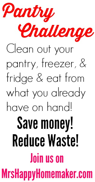 Pantry Challenge on MrsHappyHomemaker.com