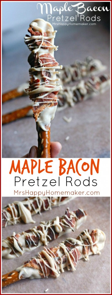 Maple Bacon Pretzel Rods