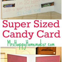 Super Sized Candy Card for your Sweetie