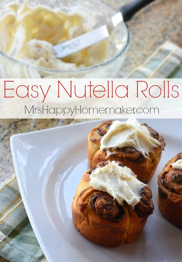 Easy Nutella Rolls