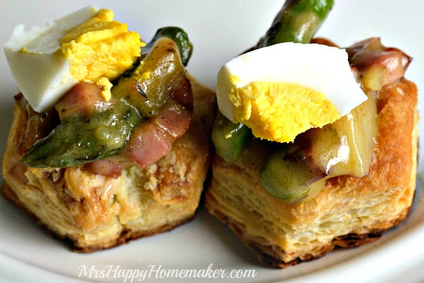 creamy ham, potato & asparagus in pastry