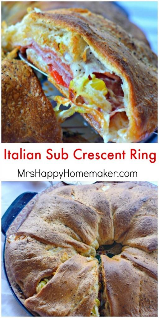 Italian Sub Crescent Ring
