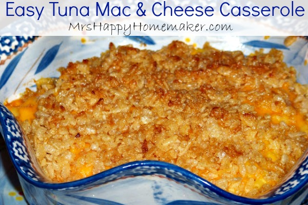 Easy Tuna Mac & Cheese Casserole