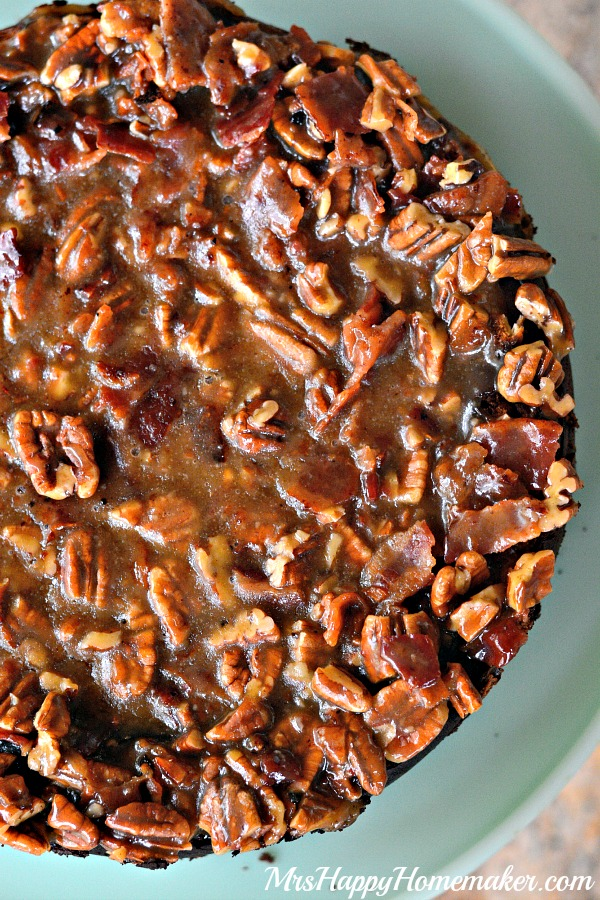 Maple Bacon Praline Cheesecake - Mrs Happy Homemaker