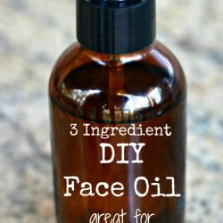 3 ingredient DIY face oil - great for anti-aging!