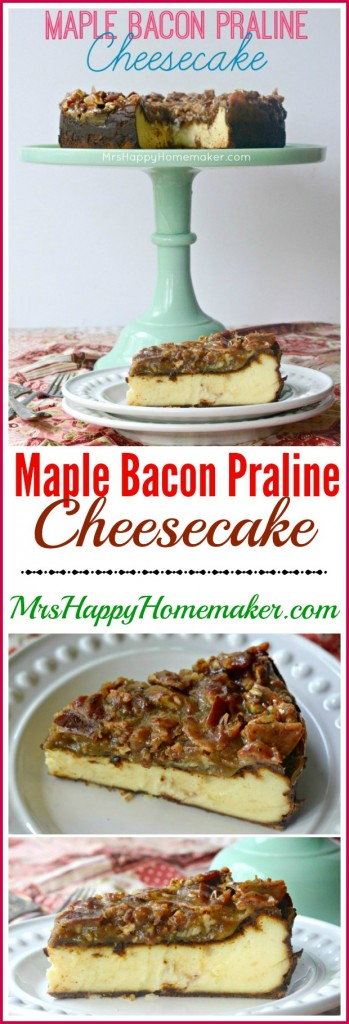 Maple Bacon Praline Cheesecake