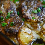 Ranch Pork Chop & Potato Casserole with Cheddar Gravy
