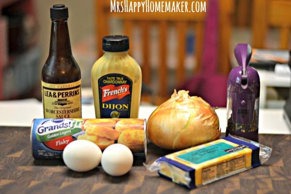 Cheddar Onion Mini Biscuit Puffs