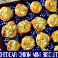 Cheddar Onion Mini Biscuit Puffs