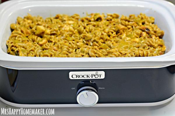 Crockpot Southwest Chicken Pasta