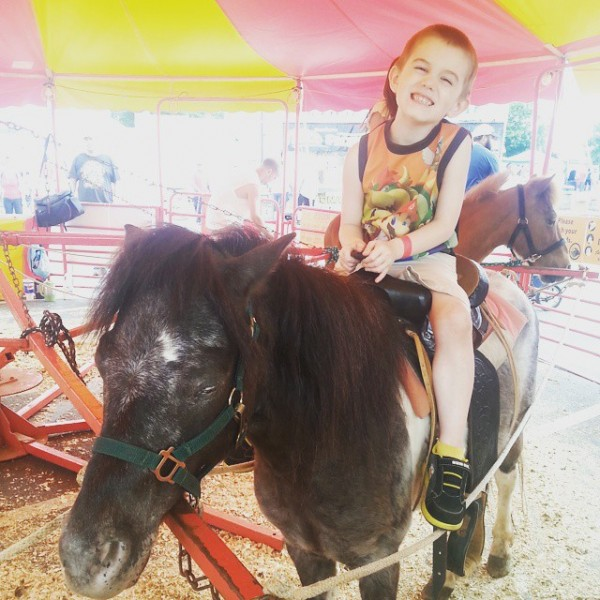 Ethan on the pony