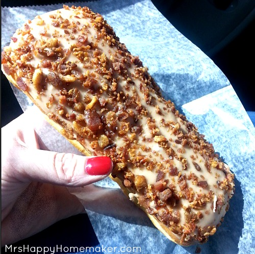 Maple Bacon Donut Bar from my favorite local donut shop