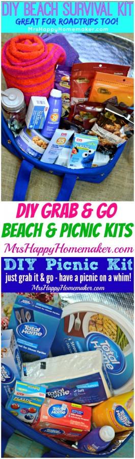 DIY Grab & Go Beach & Picnic Kits