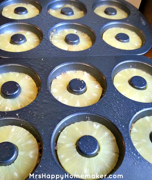 Pineapple Upside Down Cake Donuts