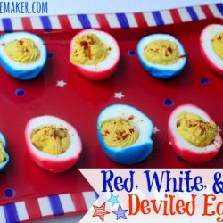 Red White and Blue Patriotic Deviled Eggs