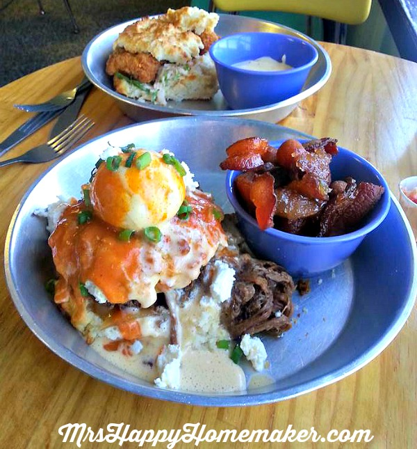 Food at my favorite Asheville Restaurant, Biscuit Head